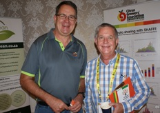 Hannes de Waal of the Sundays River Citrus Company and Rory Niven of TTC.