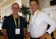 Andrew Paterson of mpact and Stephen Brink, managing director of AMC Fruit.