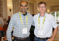 Viresh Ramburan of Citrogold and Jon Roberts of the CGACC.