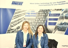 The ladies from Unitec - Joanna Furmaniak and Federica Carminati.