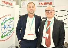 Infia were there with packing solutions: Joop de Vries and Alessandro Mariani.