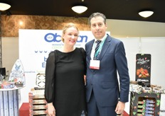 Salvador Martinez from Obeikan with Nicole.