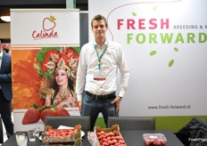 Koen Merkus from Fresh Forward had the Calinda strawberry which a great variety for growing in Spain, Morocco and Egypt.