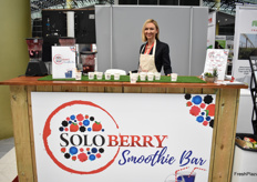 SoloBerry were making smoothies at the smoothie bar!
