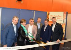 Ribbon cutting ceremony signifies the official start of CPMAs 2019 trade show. Canadas new minister of Agriculture cuts the ribbon. Others in attendance include Les Mallard, Guy Milette and Ron Lemaire.