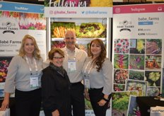The team of Babe Farms in front of colorful products that photograph well. From left to right: Ande Manos, Babe Farms' founder Judy Lundberg-Wafer, Jeff Lundberg and Rocio Munoz.
