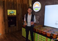 Paul Mastronardi with the Best Organic Product Award fort he Sunset Organic Angel Sweet