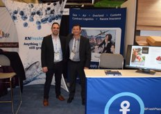 Issa Mahshi from Kuehne Nagel and Darryl WOlfe from Nacora