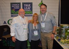 Church Brothers Farms in present to talk to its Canadian foodservice partners. From left to right Neil Milburn, Penny DeSalvatore and Ernst van Eeghen.