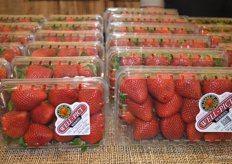 Strawberries from Oxnard on display at Well Pict's booth.