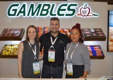 Sarah Taylor, Tom Kioussis and Rochelle Payawal with Ontario-based Gambles Produce.