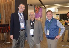 Walking the show are Tim Cavanaugh, Dennis Jackson and Robbin Erickson with First Fruits Marketing of Washington.