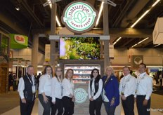 The team of Naturipe Farms in the re-branded booth.