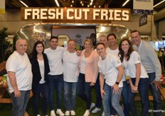 The team of EarthFresh Foods in the winning booth. The company served fresh-cut fries and drinks out of an Airstream trailer.