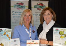 Gretchen Lane and Celyne Goulet with NatureSeal.