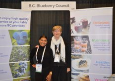 Mayela Zapata and Wilhelmina de Jager with the BC Blueberry Council.