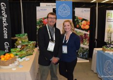 Kirk Crane and Heather Wood from Awe Sum Organics. They have a new citrus program out of California with lemons, navels and valencias.