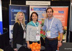 Susanne Bertolas, Monserrat Valenzuela and Matias Goycoolea from Fruits From Chile