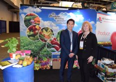 Bryan Wong and Margie Schurko from B.C. Produce Marketing Association