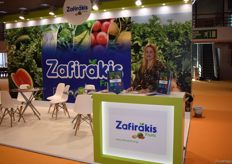 Valentina Christopoulos, the hostess for Zafirakis., They export watermelons, tomatoes, broccoli and potatoes amongst other fruits.