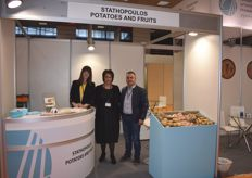 Georgia Arampou, Dimitra Thanasoula and Ilias Stathopoulos were displaying their potatoes during Freskon, but also export produce like watermelons. Their company is named after their founder, Ilias Stathopoulos.