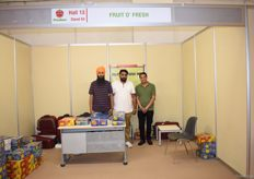 The team of Fruit o'Fresh Inc. On the far right is Sales Executive Dilraj Singh. They export apples, grapes and nectarines from India.