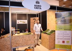Antonis Kokkalakis, the owner of the company Agro Creta. Their main product is avocados, but they also deal in other fruits, like oranges and kiwis.