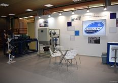 The stand of Criogen Bourlis, who deal in cooling solutions.