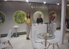 The stand of Katsagiotis S.A. They export grapes from Greece.