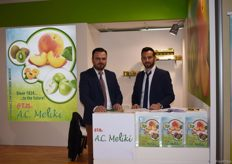 The team of A.C. Meliki. On the left is Tegousis Giorgos with his sales manager on the right.