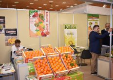 A multi stand for the companies Kolios, Porto Fruits and Spentzas.