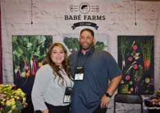 Rocio Muoz and Chris Cordero with BabFarms.