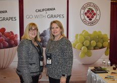 Cindy Plummer and Karen Hearn with the California Table Grape Commission are getting ready for the upcoming season.