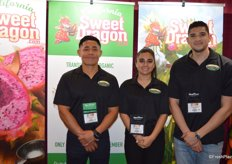 Isaias Guzman, Kimiya Manshadi and Anthony Shoghi with Moonland Produce proudly talk about the company's California-grown dragon fruit. The season will start in July and runs until early December.