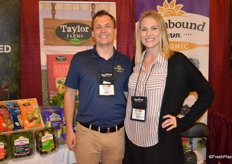 Kevin Trisko and Tracy Carranza with Earthbound Farm. The company was recently bought by Taylor Farms.