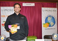 Ian Smetona with Limoneira shows a lemon trio including pink lemons, Meyer lemons and traditional lemons.