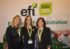 Rebecca Castrejn, Leanne Ruzzamenti and Rebecca Chavez with Equitable Food Initiative.