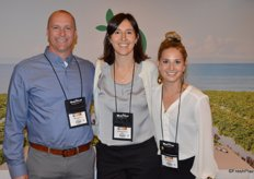 Mike Tucker, Michelle Sisson and Camille Hanna with Apeel Sciences.