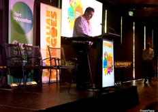 Australian Mango Industry Association Chairman Ben Martin delivering the opening address.