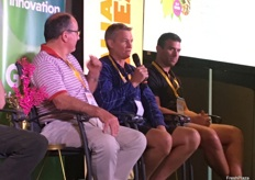 Ross Barker, Andrew Dalglish and Chris Brancatisano taking part in a panel discussion about the recent trends in the domestic mango market.