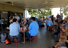 Delegates enjoy lunch ahead of the Australian Dried Produce tour