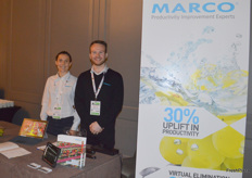 Marco has a stand in the networking area and were kept busy during the breaks. Mariette Hillborne and James Moore were on hand to tell visitors about Marco's products.