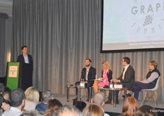 There was panel discussion on retail opportunities in the UK, delgate heard from retailers and buyers about the trends and consumer demands. Josh Kann - MMUK, Louisa Reed - MS, Paul Farmer - Fruit and Floral and Karen Cleave - Richard Hochfeld were on the panel with Carlo Berardi - Agrimessina as moderator.
