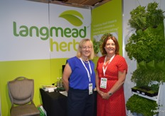 Charlotte Moseley and Dawne Lang from Langmead Herbs.