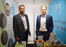 TIPA were at the show for the first time compostable packaging Amir Gross and Marc Fouche were at the stand.