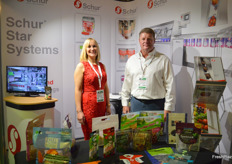 Sarah Weston and Darren Percy were on hand at the Schur Star Syetems stand to talk about the packing lines.