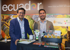 Francisco Riera Romero and Juan Carlos Yepez Franco were part of the Pro Ecuador stand.