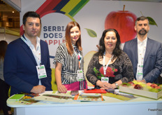 Serbia Does Apples! at the tradeshow for the first time. Dragoslav Bovan, Bojana Vukasinovic, Julka Toskic and Milan Zivkovic.