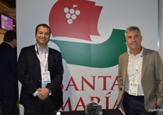 Gonzalos Hernandes and Christian Urban from Santa Maria grape exporters.