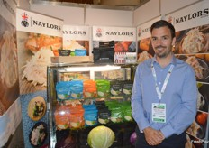Ben Naylor from Naylor Farms was presenting a new coleslaw, along withh other products, which has a shelflife of 120 days using a cold press technique.